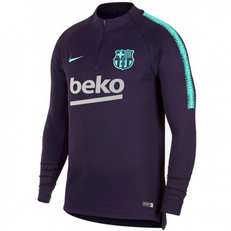 FC Barcelona purple training technical sweatshirt 2018/19 - Nike