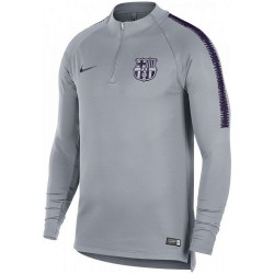 FC Barcelona grey training technical sweatshirt 2018/19 - Nike