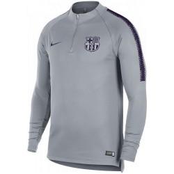 Felpa tecnica allenamento grigia FC Barcellona 2018/19 - Nike