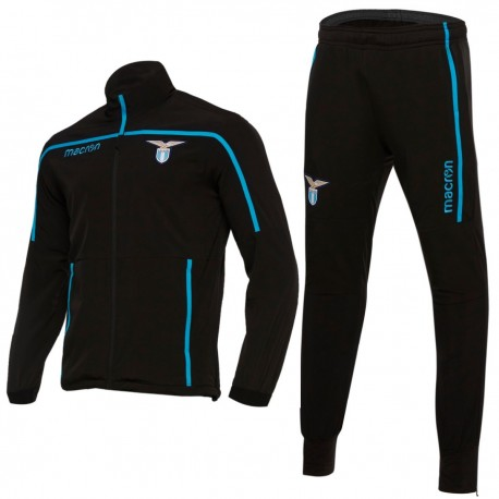 SS Lazio black training presentation tracksuit 2018/19 - Macron