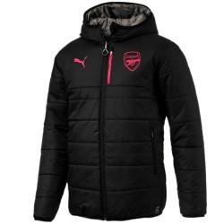 Giacca tecnica reversibile nera allenamento Arsenal 2017/18 - Puma