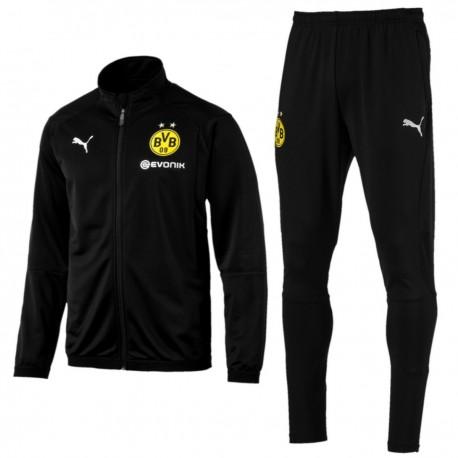 BVB Borussia Dortmund black training bench tracksuit 2018/19 - Puma