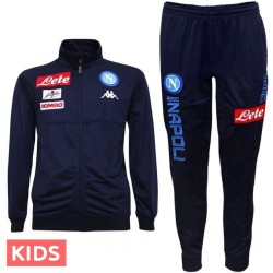 Jungen - SSC Napoli Player Trainingsanzug 2017/18 blau - Kappa