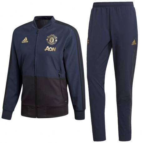 Manchester United training presentation tracksuit 2018/19 - Adidas