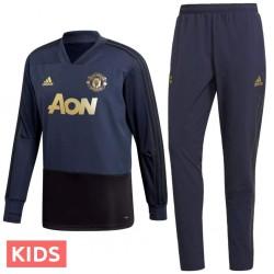Garçon - Survetement sweat d'entrainement Manchester United UCL 2018/19 - Adidas
