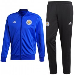 Leicester City FC training/presentation tracksuit 2018/19 blue/black - Adidas