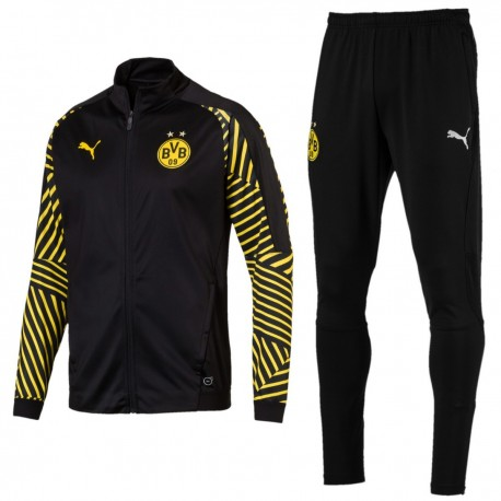Borussia Dortmund training pre-match black tracksuit 2018/19 - Puma