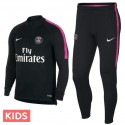 Kids - Paris Saint Germain black training technical tracksuit 2018/19 - Nike