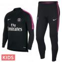 Kids - Paris Saint Germain black training technical tracksuit 2018/19 - Nike