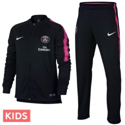 Kids - Paris Saint Germain black training presentation tracksuit 2018/19 - Nike