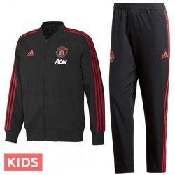 Junior - Survetement de presentation Manchester United 2018/19 noir - Adidas