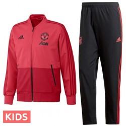 Jungen  - Manchester United training präsentationsanzug 2018/19 - Adidas