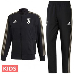 Junior - Survetement de presentation Juventus 2018/19 noir - Adidas