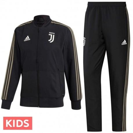Kids - Juventus black presentation tracksuit 2018/19 - Adidas