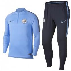 Survetement Tech d'entrainement Manchester City 2018/19 bleu clair - Nike