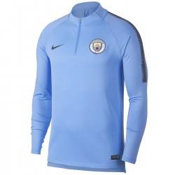 Tech sweat top d'entrainement Manchester City 2018/19 bleu clair - Nike