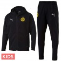 Kids - Borussia Dortmund casual presentation sweat tracksuit 2018/19 - Puma