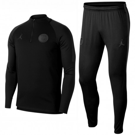 Jordan x PSG black training technical tracksuit 2018/19 - Jordan