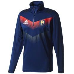 Sudadera tecnica entreno seleccion Francia rugby 2017/18 - Adidas