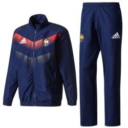 Frankreich Rugby präsentationsanzug 2017/18 - Adidas