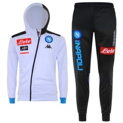 SSC Napoli white hooded training presentation tracksuit 2018/19 - Kappa