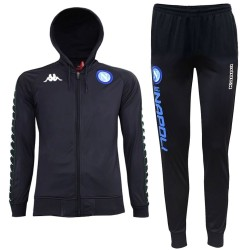 Survetement de presentation capuche SSC Napoli UCL 2018/19 bleu - Kappa