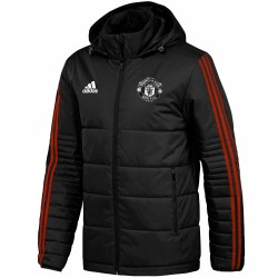 Giacca imbottita allenamento nera Manchester United UCL 2017/18 - Adidas