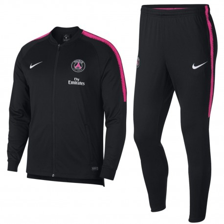Paris Saint Germain black training presentation tracksuit 2018/19 - Nike