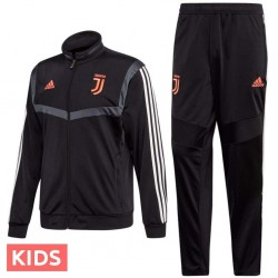 Kids - Juventus black training/presentation tracksuit 2019/20 - Adidas