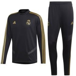 Survetement Tech d'entrainement Real Madrid 2019/20 noir - Adidas