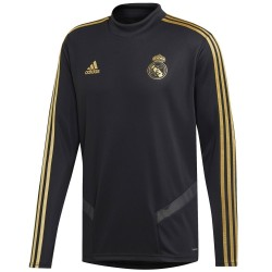 Tech sweat top d'entrainement Real Madrid 2019/20 noir - Adidas