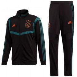 Survetement d'entrainement/presentation Ajax 2019/20 noir - Adidas