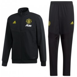 Chandal negro de presentacion Manchester United 2019/20 - Adidas