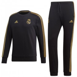 Survetement sweat d'entrainement Real Madrid 2019/20 noir - Adidas