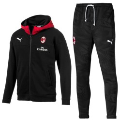 AC Milan casual presentation sweat tracksuit 2019/20 black - Puma