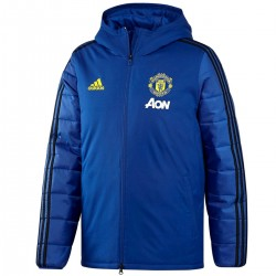 Manchester United blue training bench jacket 2019/20 - Adidas