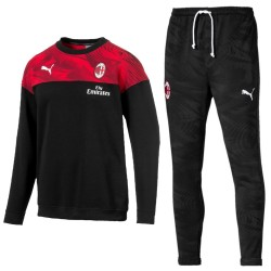 AC Mailand crew sweat Präsentation trainingsanzug 2019/20 schwarz - Puma