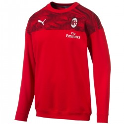 Sweat de presentation crew AC Milan 2019/20 rouge - Puma