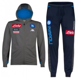 SSC Napoli hooded presentation tracksuit 2019/20 grey/navy - Kappa