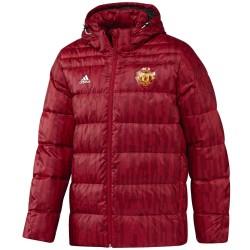 Doudoune bench d'entrainement Manchester United 2017/18 rouge - Adidas
