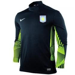 Aston Villa FC Arquero lejos Jersey 11/12 jugador tema Nike carreras-negro/verde