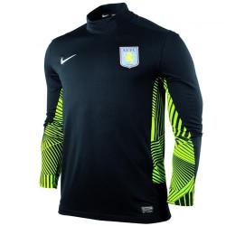 Aston Villa FC Torwart Trikot Away 11/12 Player Problem Nike Renn-schwarz/grün