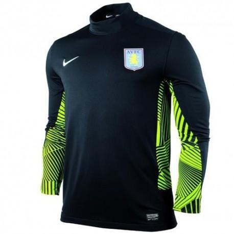 Maglia portiere Aston Villa FC Away 11/12 Player Issue da gara Nike- Nero/verde