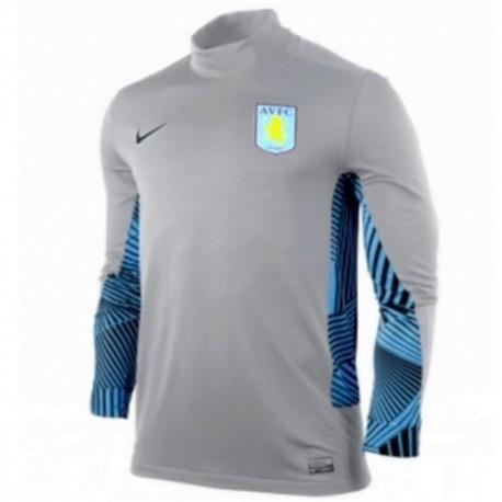 Carrera de portero Away Jersey 11/12 jugador tema Nike gris Aston Villa FC