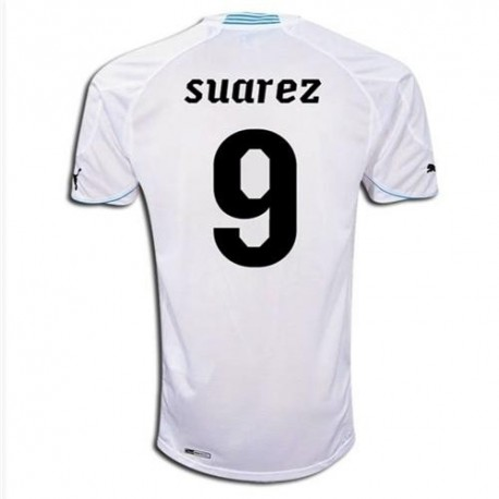 National Uruguay Away shirt 2010/12 Suarez 9 by Puma