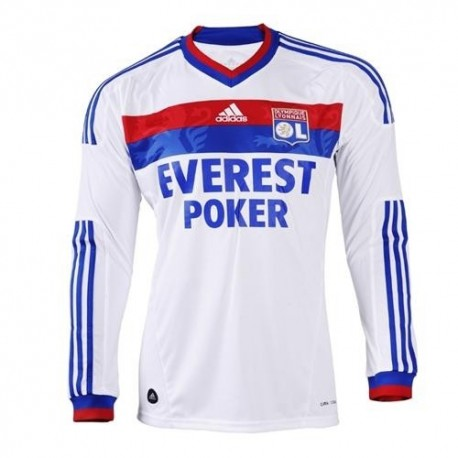 Olympique Lyon 2011 Jersey/12 Home von Adidas-Long sleeves