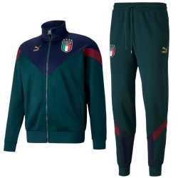 Italy green Fans cotton presentation tracksuit 2019 - Puma