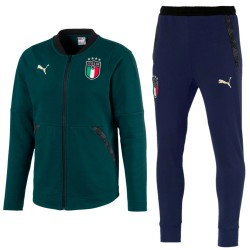 Italien-Nationalmannschaft Casual Präsentation trainingsanzug 2019 grün - Puma