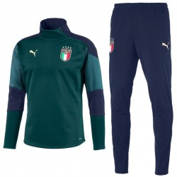 Italy green training technical fleece tracksuit 2019 - Puma