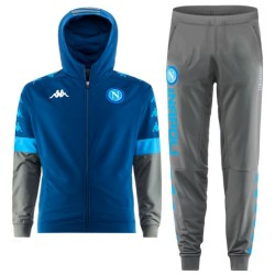 SSC Napoli EU hooded presentation tracksuit 2019/20 blue/grey - Kappa
